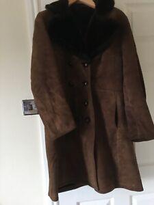 Ladies Genuine Suede Coat, Size 14
