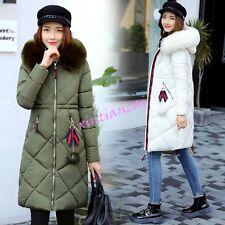 Womens Girl Hooded Cotton Thicken Coat Winter Long Puffer Warm Parka Jacket 2017
