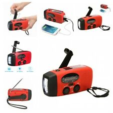 Emergency Weather Radio Hand Crank Solar Power Bank Charger Camping Tool Kits