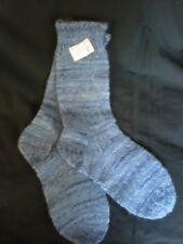 19-6 Hand-selbstgestrickte Wollsocken Gr. 36/37 - 75%Schurwolle Strumpfwolle