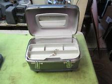 Vintage American Tourister Train Case / Make-Up Case w/ Tray & Mirror & Key NICE