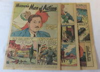 1947 five page cartoon story ~ MIGUEL ALEMAN Mexico's Man Of Action