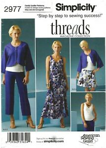 Simplicity 2977 Side-Gather Dress & Top, Jacket, Flared Skirt & Pants Sz 8-16 UC