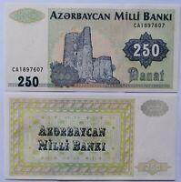 AZERBAIYAN AZERBAIJAN 250 manat 1992,  P-13b. Sin circular UNC.