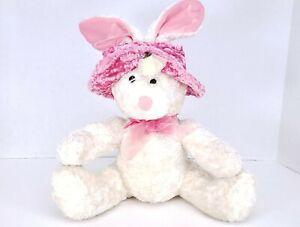 "Dan Dee Collector's Choice White Easter Bunny 10"" Rabbit Plush Stuff Animal Toy"
