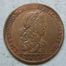 Louis XIV jeton cuivre Etats Artois Arras 1656/ France royal copper token