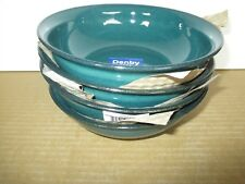 Denby Greenwich 4 x Large Side Bowls New 1st Quality Excellent Condition