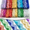 9Yards Mesh Sequins Embroidered Trim Lace Border Ribbon Braid Trimmings Crafts