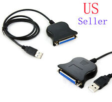 New USB to DB25 Female Port Print Converter Cable LPT