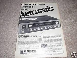Onkyo TS-500 QUAD receiver Ad from 1974,RARE!!!