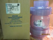 "CHECK VALVE 1/2"" TRUE UNION CLEAR PVC - socket - SPEARS  S1720C05"