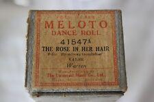 """""""THE ROSE IN HER HAIR"""" VECCHIO RULLO PER PIANOFORTE o AUTOPIANO /OLD DANCE ROLL"""