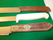 3 Vintage Kitchen Cutting and Carving Knives