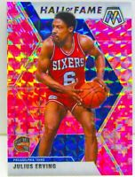 Julius Erving 2019-20 CAMO PINK MOSAIC PRIZM Hall of Fame Card #288 76ers Team