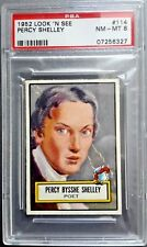 1952 Topps Look 'N' See Percy Bysshe Shelley PSA 8 #114 Nicely Centered Vintage