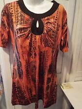 Ladies Dressbarn SMALL COPPER / BLACK TOP POLYESTER / SPANDEX NICE