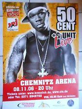 50 centimes 2006 Chemnitz Orig. Concert-Concert-Tour-Poster - affiche DIN a1