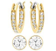 Canvas Crystal Pierced Earrings Gold Plated Set 2015 Swarovski Jewelry #5113775