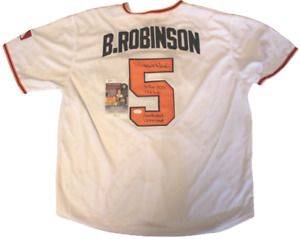Brooks Robinson Signed Custom Baltimore Orioles Jersey w/JSA COA LL18368