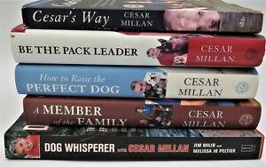 Lot 5 CESAR MILLAN Dog Training books PACK LEADER,WAY,FAMILY,PERFECT,WHISPERER