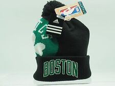 Boston Celtics Youth Adidas NBA Knit Pom Hat NEW Boys 8-20 ONE SIZE FITS MOST