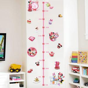 Minnie Growth Chart Children Wall Stickers Kids Girl Room Wall Decals UK K3