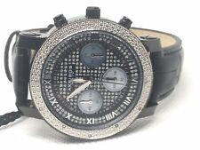 New Akribos XXIV A437BK Diamond Pave Dial Chronograph Wrist Watch New Battery