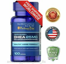 Puritan's Pride Dehydroepiandrosterone 25mg 100 Tablets