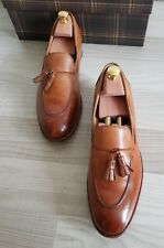 PAUL SMITH Luxury TASSELED LOAFERS Leather Sole ITALY Große 43 (UK 9) UVP 425€!