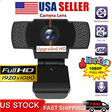 Desktop 1080P HD Webcam Conference Video Calling Computer Camera w/ Microphone A