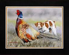 RING NECK PHEASANT Watercolor 8 x 10 Art Print by Artist DJR