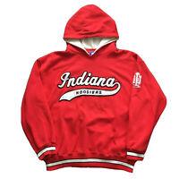 Vintage 90s Indiana University Hoodie Men's Large Hoosiers Starter College Red