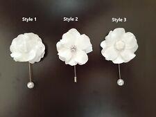 Lapel pin, Fiancé boutonniere, Wedding boutonniere, Tuxedo boutonniere
