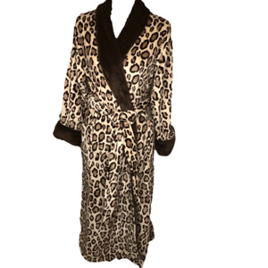 NATORI WOMENS ANIMAL PRINT ROBE SIZE SMALL Spotted Leopard Sleepwear PJ NEW NWT