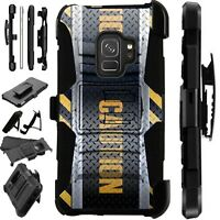 For Samsung Galaxy Phone Case Holster Stand Cover CAUTION CROSSHATCH LuxGuard