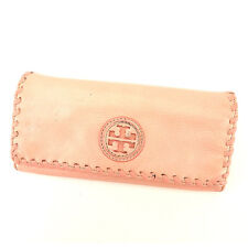 Tory Burch Wallet Purse Long Wallet Pink Gold Woman Authentic Used Y7447