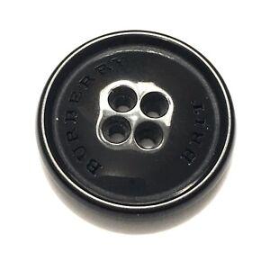 BURBERRY Brit  Black Glossy 01 Button 20mm #4448