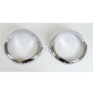 Cadillac headlight ring chrome bezels hood driver and passenger set head light