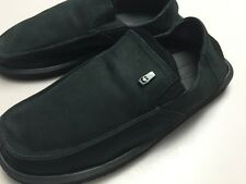New Sanuk Men's Leather Black Board Room Sidewalk Surfer Size 13