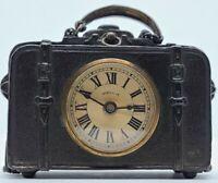 Antique Working 1892 E.N. Welch 'Little Grip' Miniature Suitcase Novelty Clock