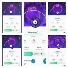 Pokemon Go Trading Unown letters (A E N M O P S I C H U G K W X Y Z) fast delivr