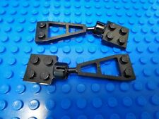 Lego 2  2x2 modified plates  Towbar and Socket Set Light Gray Parts