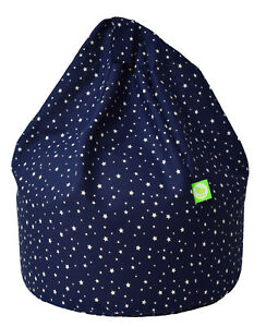 Child Size Navy Stars Bean Bag With Beans By Bean Lazy