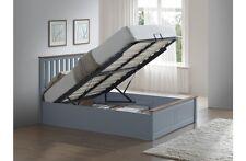 Birlea Phoenix Wooden Ottoman Storage Bed Frame - 4ft6 Double - Stone Grey