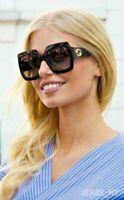 ✅ GUCCI GG0053S 001 Square Black Oversize Women Authentic Sunglasses ~54mm