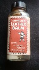 Cavalier leather balm, vintage, 4 fl oz bottle, used, approx 1/2 remaining