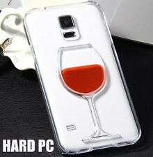 For Samsung Galaxy S5 - Hard Protector Skin Case Cover Red Wine Glass w/ Liquid