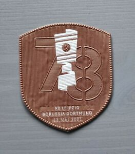 DFB Pokalfinale Patch 2021 Badge Dortmund Leipzig für Trikot Match Detail