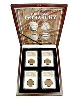 The Roman Tetrarchy:A Collection of Four NGC-Slabbed Coins With Beautiful Box