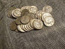 Lot of (10)  Silver Washington Quarters, 90% !! $2.50 Face